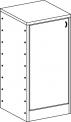 Skříňka se soklem s policemi a dvířky MIKI  PLUS - M22.126