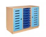 Skříňka s dveřmi a plastovými zásuvkami MIKI ART - ZS08305