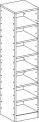 Skříň se šesti vloženými policemi MIKI  PLUS - M22.095