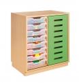 Skříňka s posuvnými dveřmi a plastovými zásuvkami MIKI ART - ZS08204.300