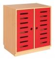 Skříňka s dveřmi a policemi MIKI ART -ZS08205