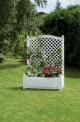 Truhlík na rostliny velký se špalírem - 100 cm, bílý