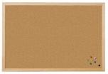 Korková nástěnka dřevěný rám Exclusive 90 x 100 cm