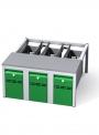 Předlavičky (podstavce) šatních skříní POD 90 S (pro modul 90 cm)