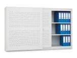 Archivační skříň s posuvnými dveřmi, 1200 x 1200 x 500 mm - kovová