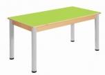 Stůl 120 x 60 cm  výškově stavitelné nohy 52 - 70 cm - x56.05270