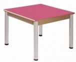 Stůl 80 x 80 cm výškově stavitelné nohy 52 - 70 cm - x56.35270