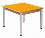Stůl 80 x 80 cm výškově stavitelné nohy 58 - 76 cm - x56.35876
