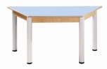 Trapézový stůl 120 x 60 cm výškově stavitelné nohy 52 - 70 cm - 56.45270