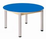Kruhový stůl průměr 100 cm výškově stavitelné nohy 52 - 70 cm - U56.55270