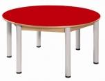 Kruhový stůl průměr 120 cm výškově stavitelné nohy 52 - 70 cm - 56.95270