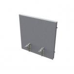 Akustik paraván na hranu stolu (koncový prvek do sestavy) - TPA H 800 SK 1 (80x62,5x4 cm)