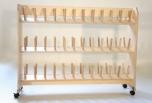 Sušák obuvi pro 30 párů, dřevěný 0D114