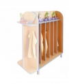 Koupelnová oboustranná skříňka pro čtrnáct dětí s kelímky 0L362M