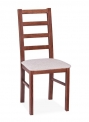 Jídelní dřevěná židle s čalouněným sedákem KT 2