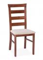 Jídelní dřevěná židle s čalouněným sedákem KT 11