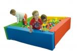 Bazén čtvercový čtyřbarevný - koženka 120x120x40 cm