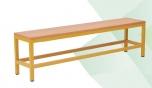 Šatní lavička kovová bez roštu 150x35 cm
