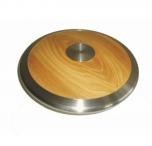 Atletický disk dřevo chrom 1,5 Kg - 3821