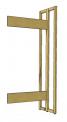 Přístavný regál, oboustranný, délka 75 cm