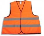 Reflexní bezpečnostní vesta oranžová velikost XXL