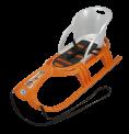Sportovní sáňky s ohrádkou Snow Tiger Comfort - oranžové
