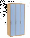 Šatní skříň trojdílná dřevěná buk 1582 Ellmau