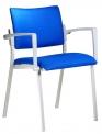 Alba Konferenční (jednací) židle Square čalouněná šedý plast- SLEVA nebo DÁREK