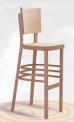 Barová dřevěná ohýbaná židle Lineta Bar 5194