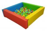 Bazén čtvercový čtyřbarevný - PES 120x120x40 cm