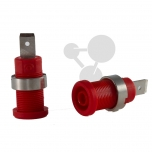 Bezpečnostní zdířka s plochým konektorem, červená