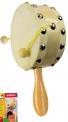 Dětský dřevěný hudební nástroj bubínek s rukojetí Bino 3786551