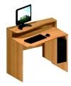 Celodřevěný PC stůl s nástavbou pravé provedení
