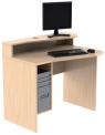 Celodřevěný PC stůl s nástavbou