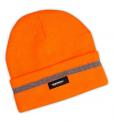 Čepice s reflexním pruhem - oranžová