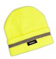 Čepice s reflexním pruhem - žlutá