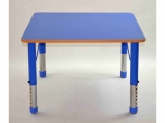Dětský čtvercový stůl 80x80 cm výškově stavitelný