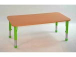 Dětský obdélníkový stůl 124x62 cm výškově stavitelný s rektifikací