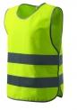 Dětská bezpečnostní vesta velikost XS - žlutá