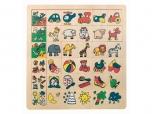 Dětská dřevěná hra Přiřaď pět obrázků 3784079