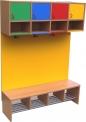 Dětská dřevěná kompletní šatnička se zády - M20.122