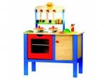 Dětská dřevěná mini kuchyňka na hraní s příslušenstvím