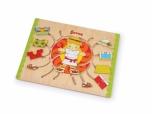 Dětská dřevěná Motorická hra oblékání 541547