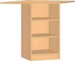 Dětská dřevěná rohová skříňka s policemi 0L546M