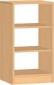 Dětská dřevěná skříňka  oboustranná s policemi 0L269M