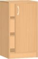 Dětská dřevěná skříňka s dvířky 0L003M