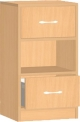 Dětská dřevěná skříňka s policí a zásuvkami 0L005M