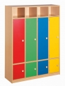 Dětská dřevěný šatní čtyřblok bez zámků - M20.112