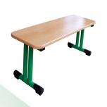 Dětská šatní lavička kovová 100x35 cm
