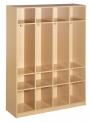 Dětská šatní skříň čtyřdílná dřevěná otevřená bez dvířek - M20.113.